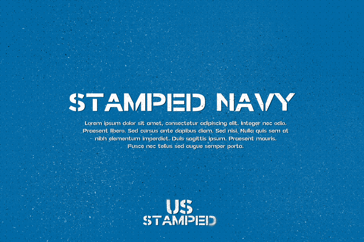 Stamped Navy Font example image 2