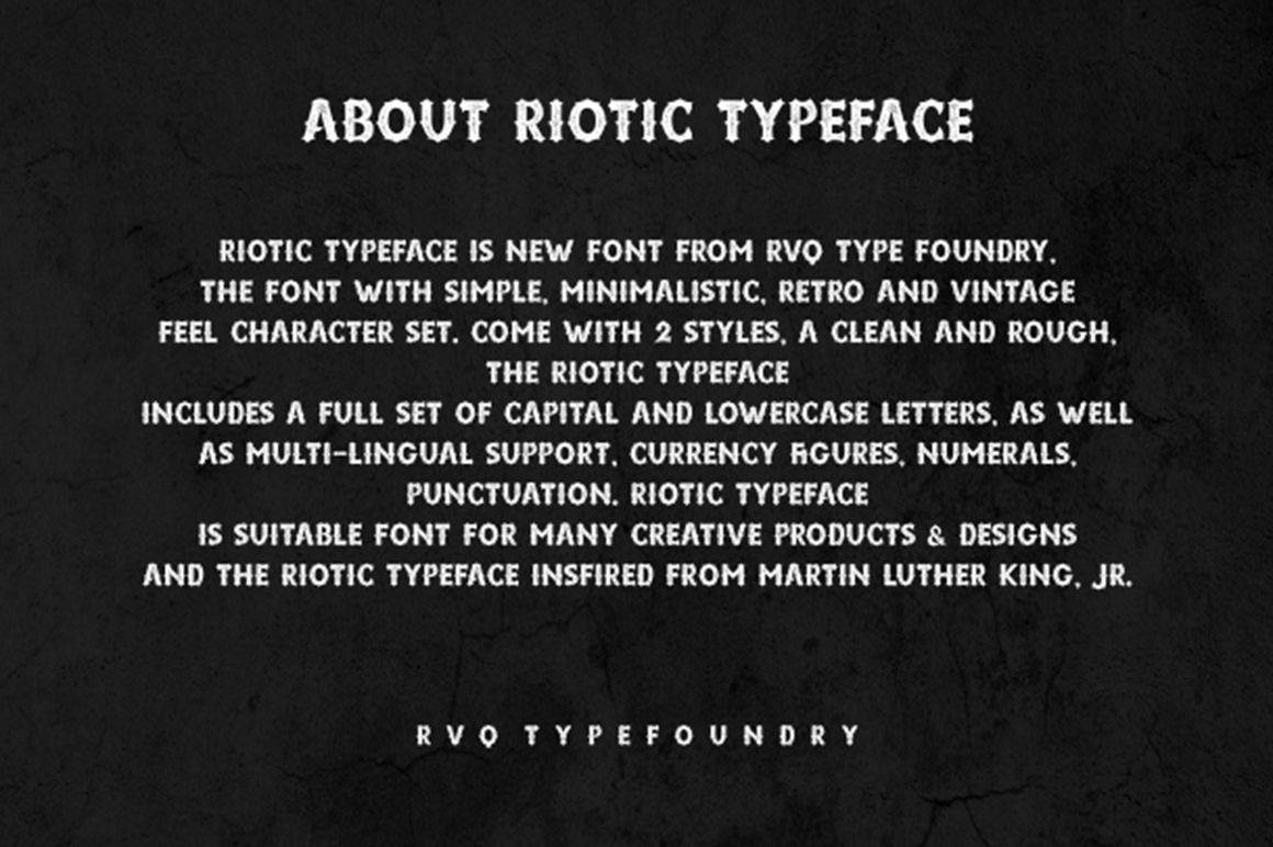 Riotic typeface example image 2