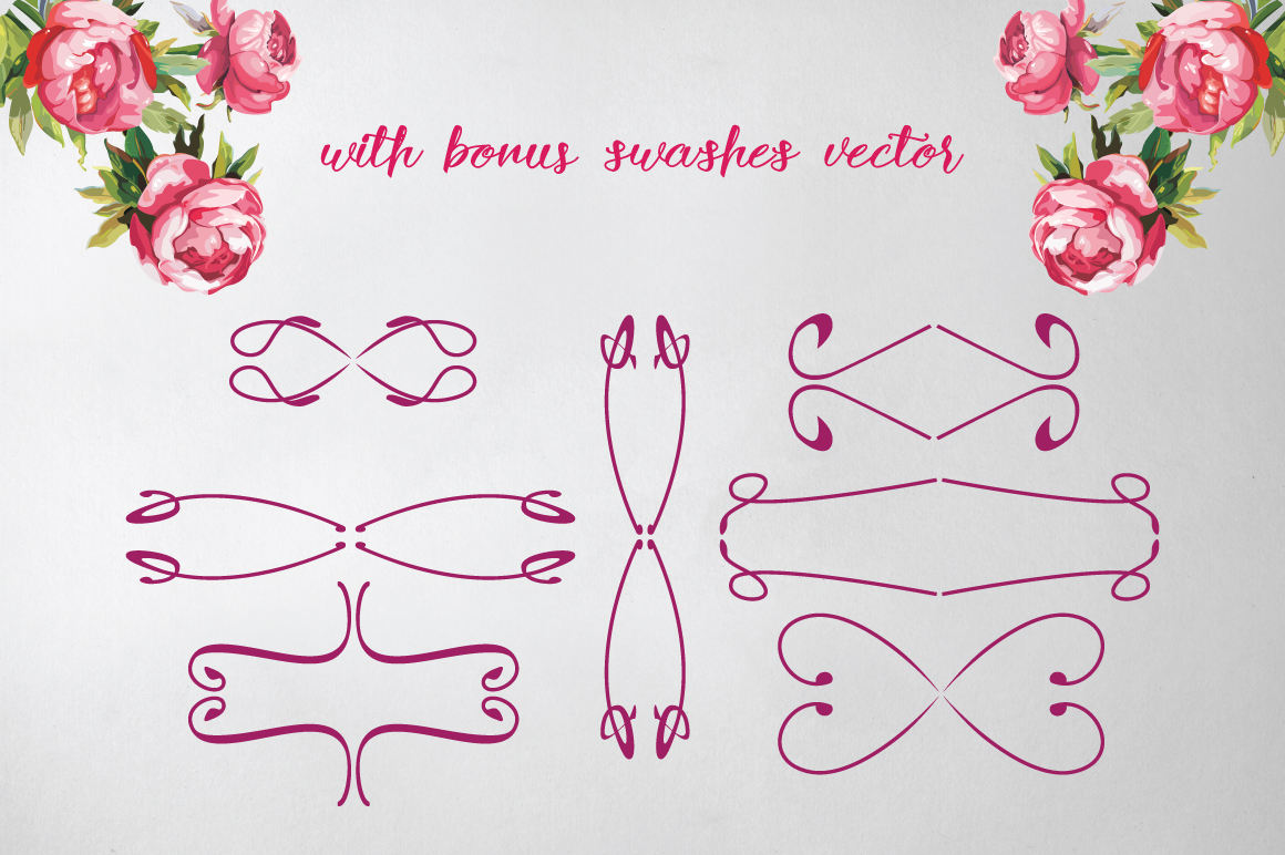 Rose Wine Typeface example image 5