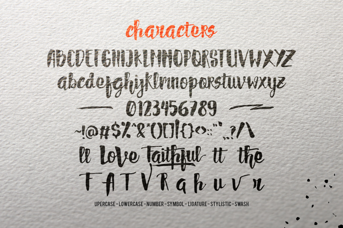 Faithful Typeface example image 2