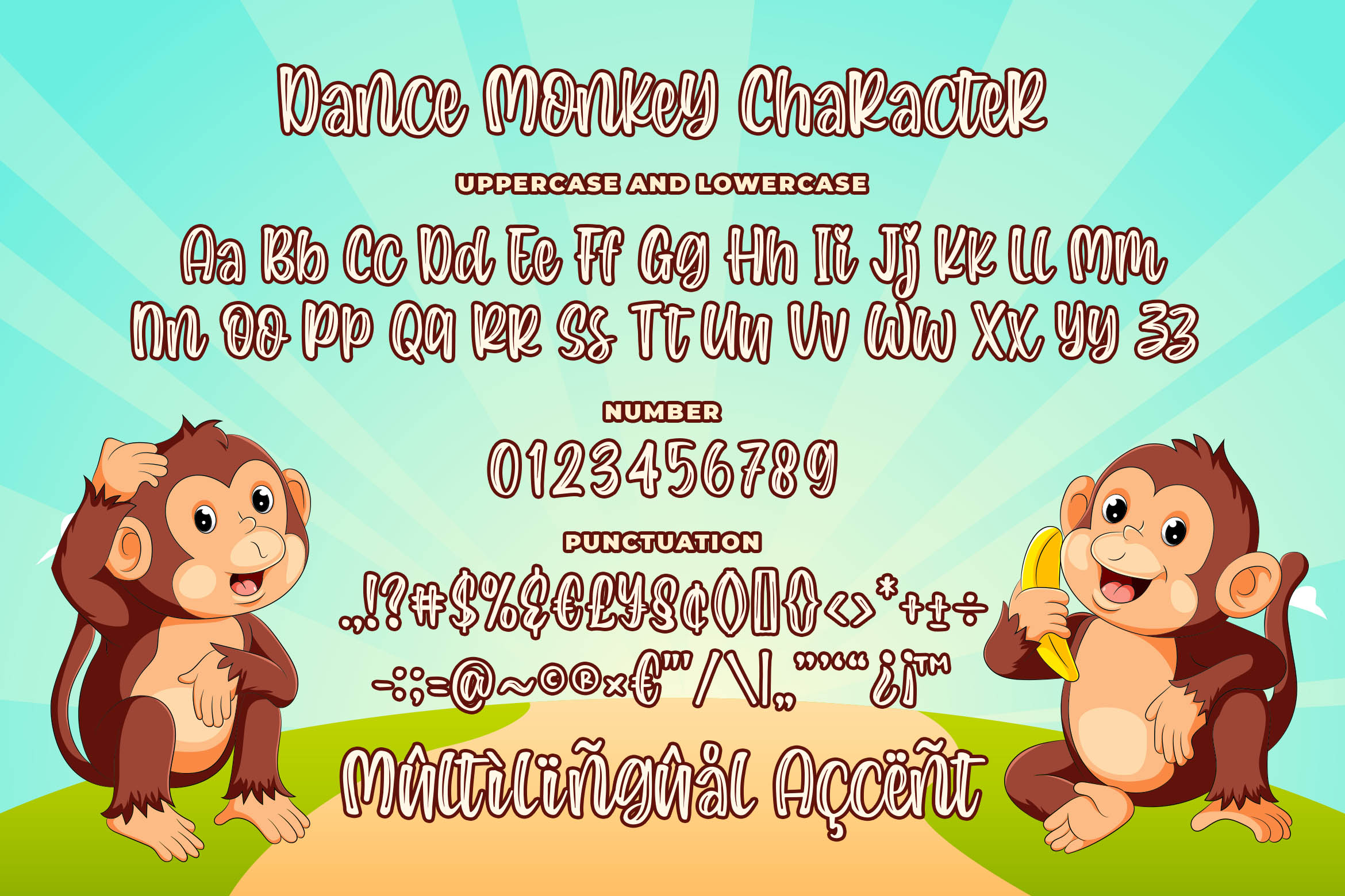 Dance Monkey a Quirky Font example image 6