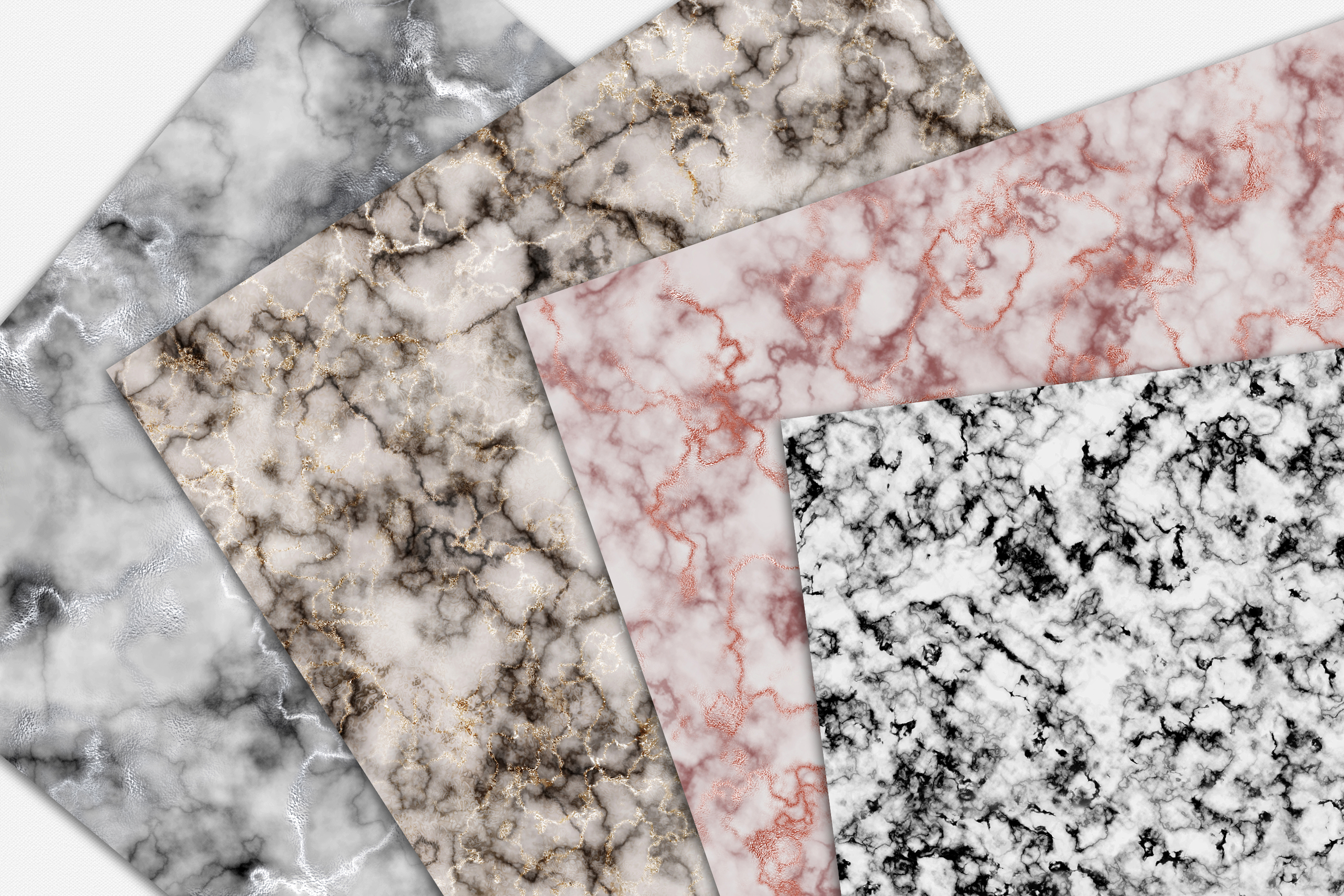 Marble Digital Papers - 10 Seamless Textures example image 4