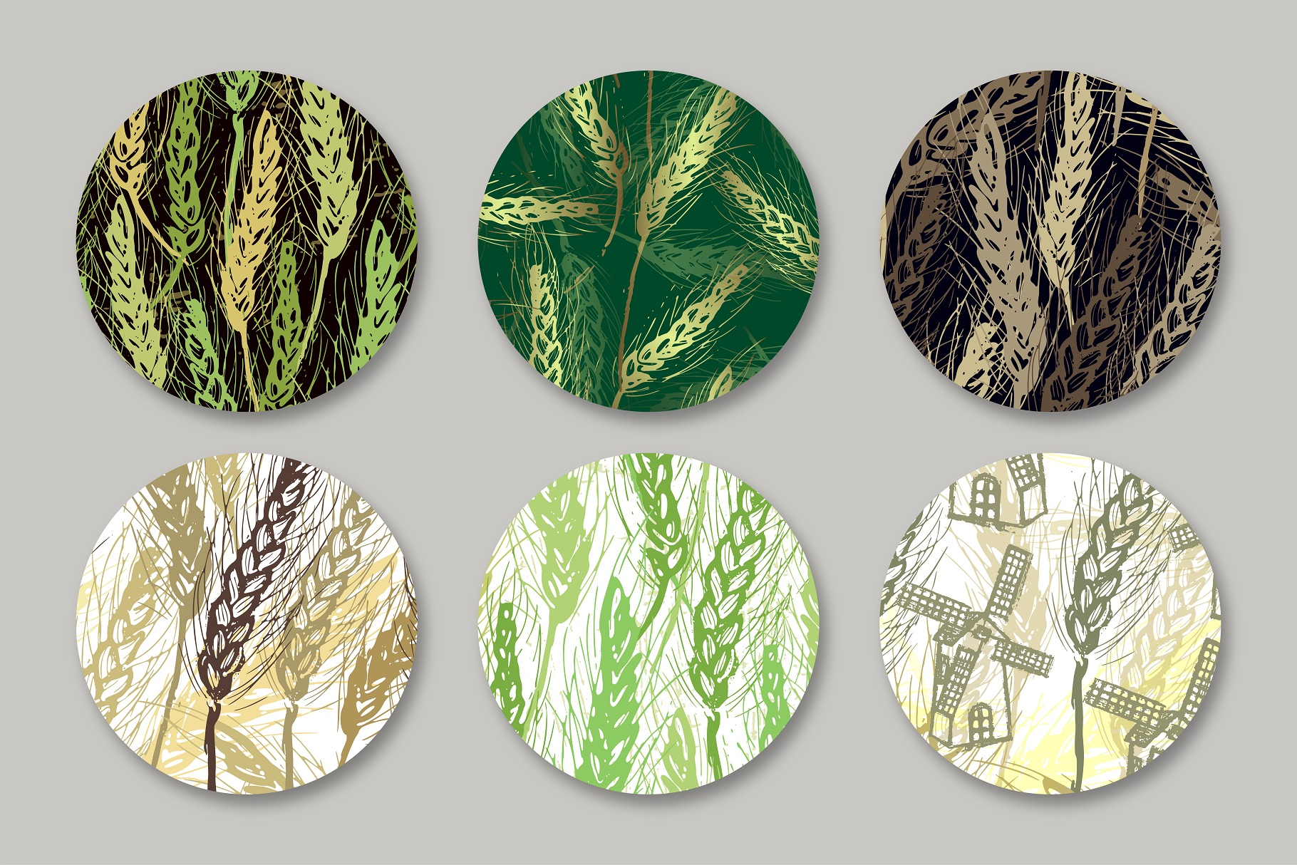 Spikelets Pattern Collection example image 3