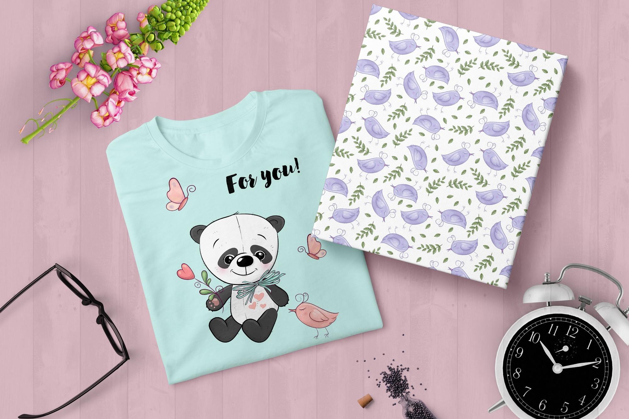 Cute Panda - vector clip art example image 6