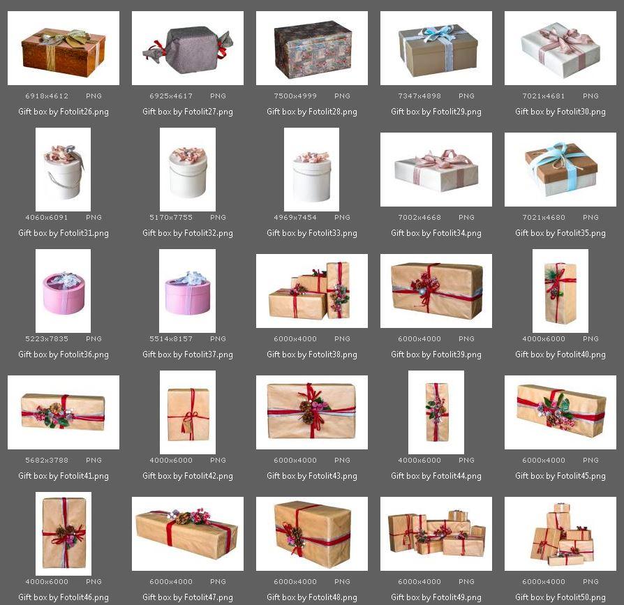 50 Gift Box Photo Overlays example image 4