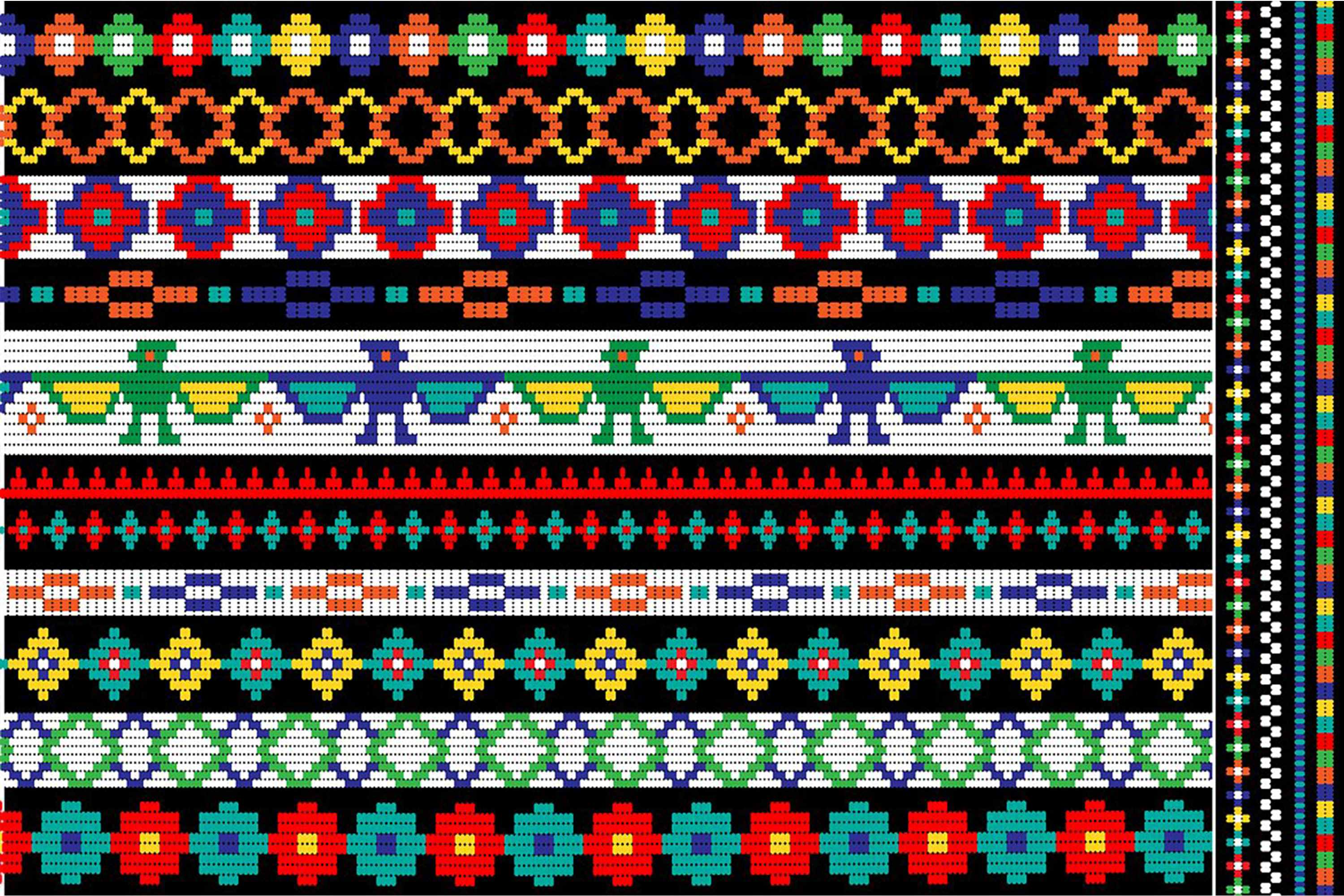 Native American Beaded Border Patterns example image 3