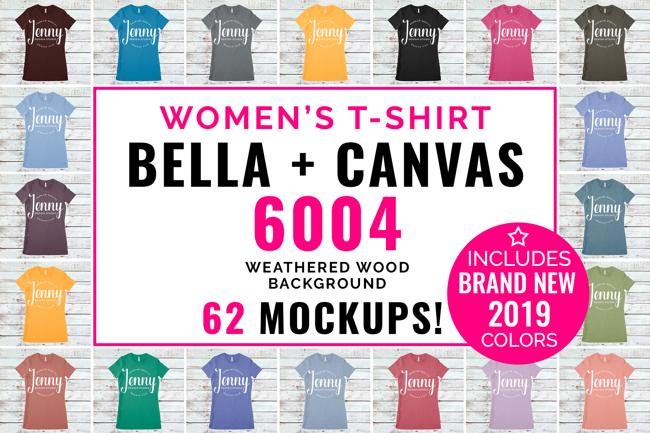 Bella Canvas 6004 Unisex Mockup Bundle, Womens T-Shirt example image 1