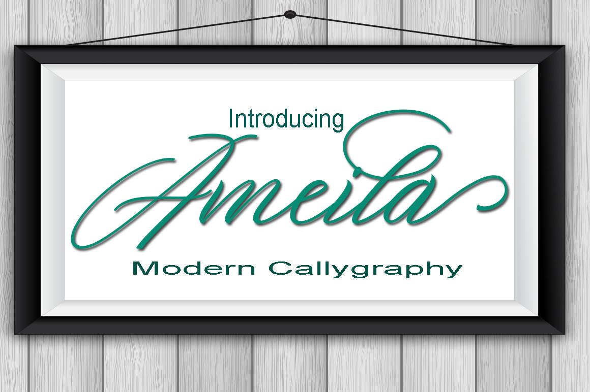 Ameila Script example image 1