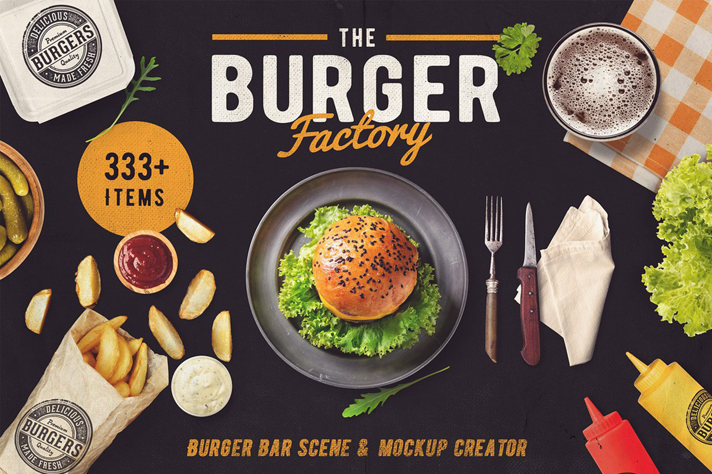 The Burger Bar - Scene and Mock-up Generator example image 1
