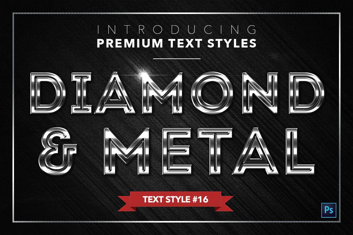 Diamond & Metal #2 - 16 Text Styles example image 17