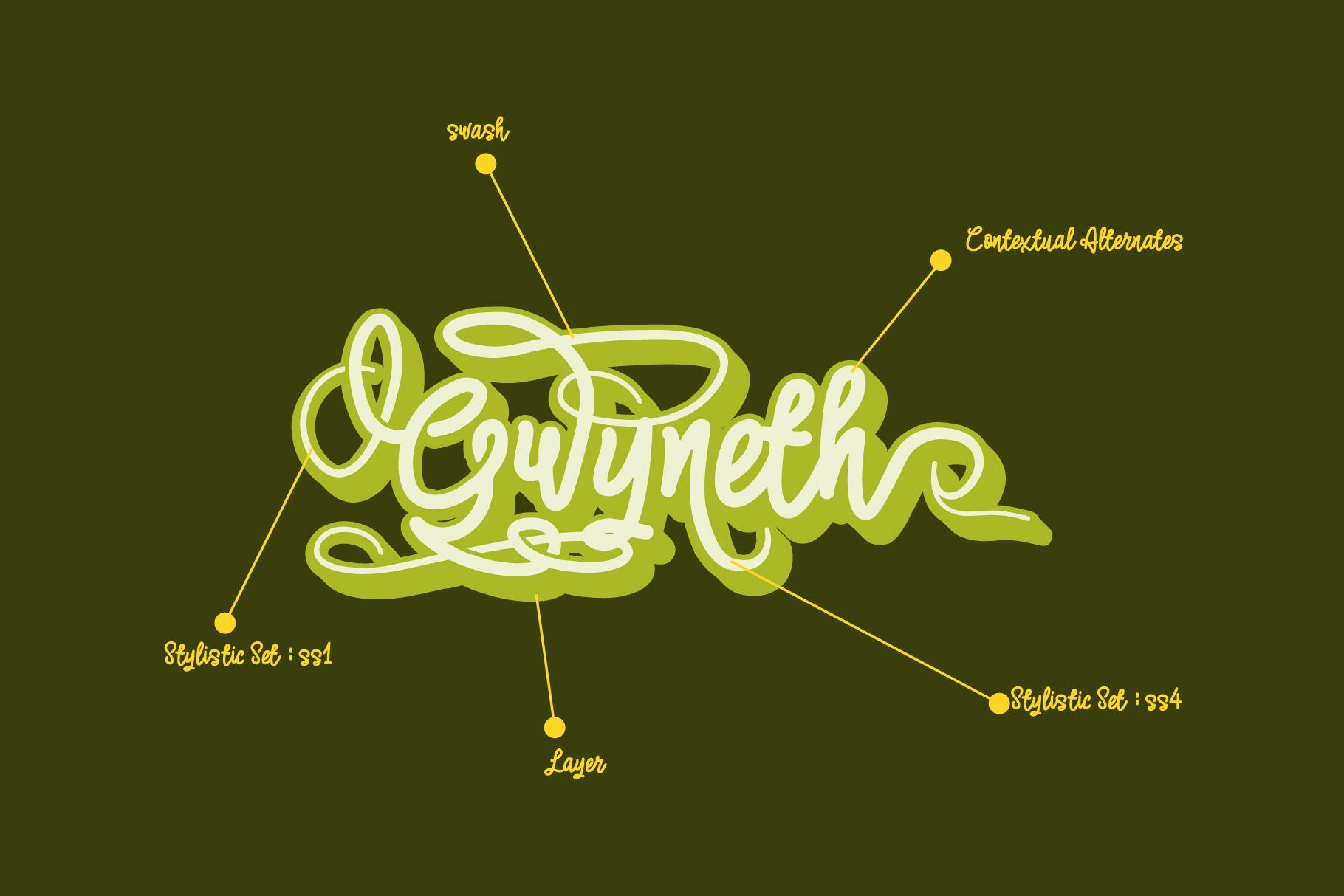 Gwyneth | modern script layered example image 5