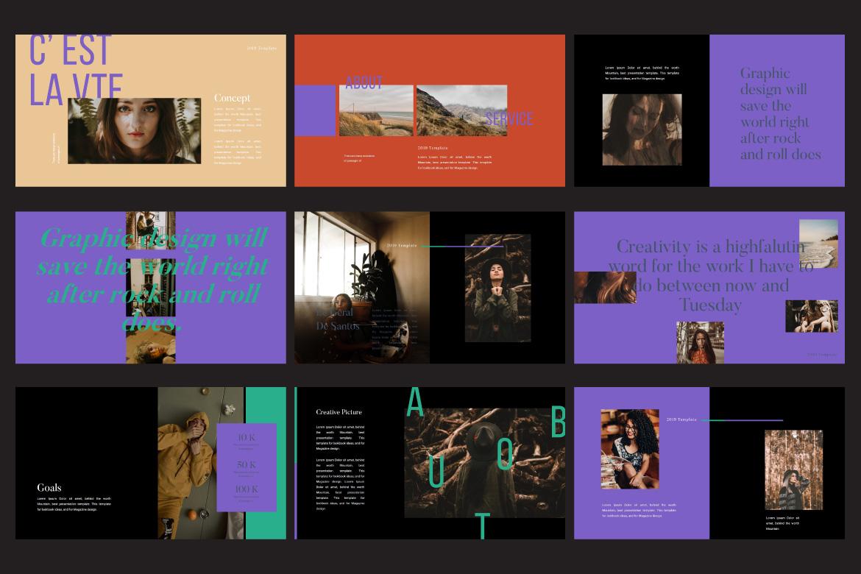 Jasmine Dark Lookbook - Fashion Google Slides example image 6