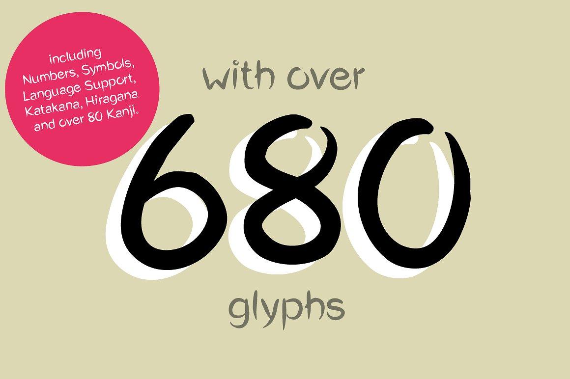 Okashi シ Typeface - A japanese styled font example image 6
