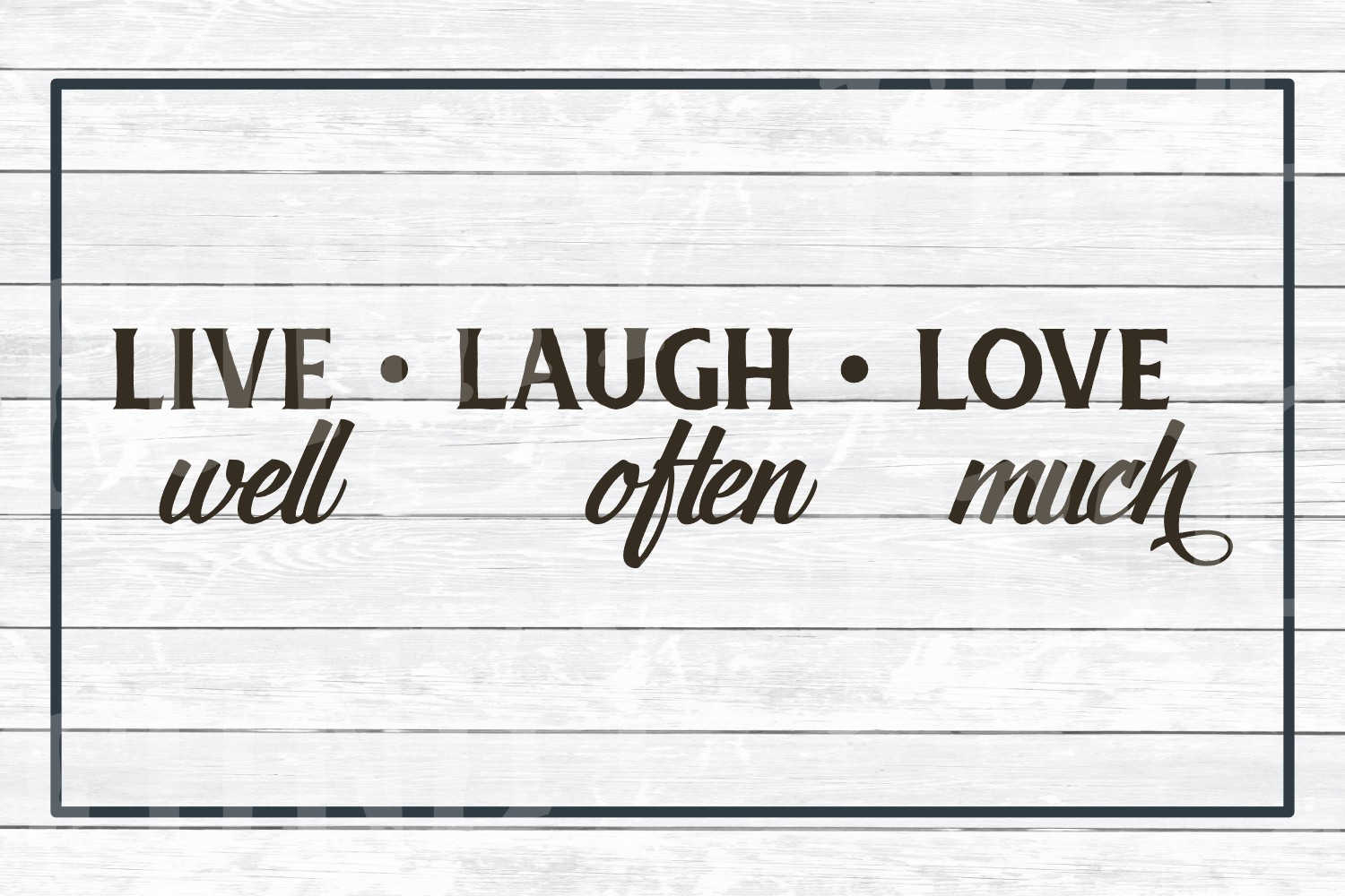 Live Laugh Love- Inspirational SVG Cut File for Crafters example image 3