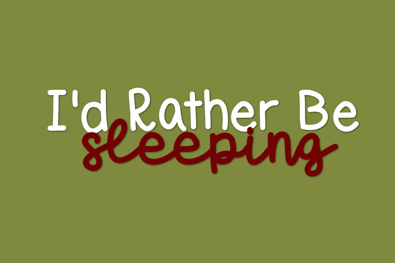 Sleepy Sloth, Handwritten Font Duo example image 5