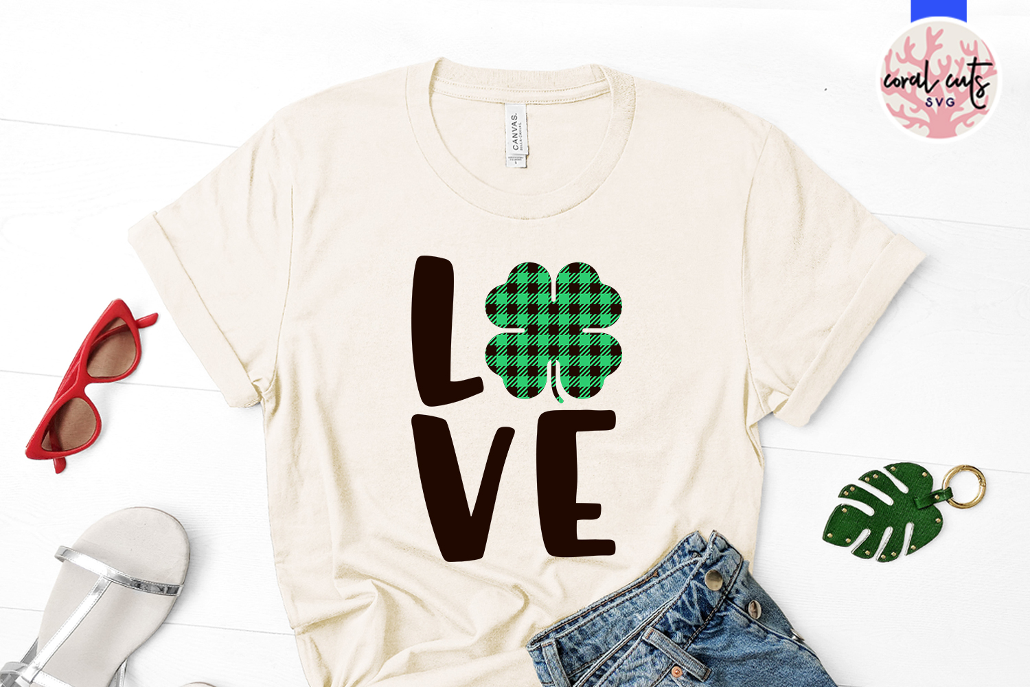 Love - St. Patrick's Day SVG EPS DXF PNG example image 2