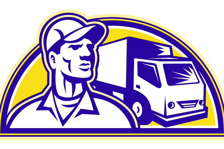 Removal Man Delivery Guy with Moving Van example image 1