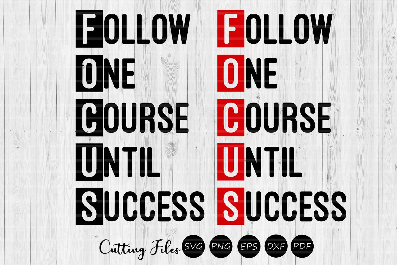 Follow one course until success  SVG cut file   Motivational example image 1