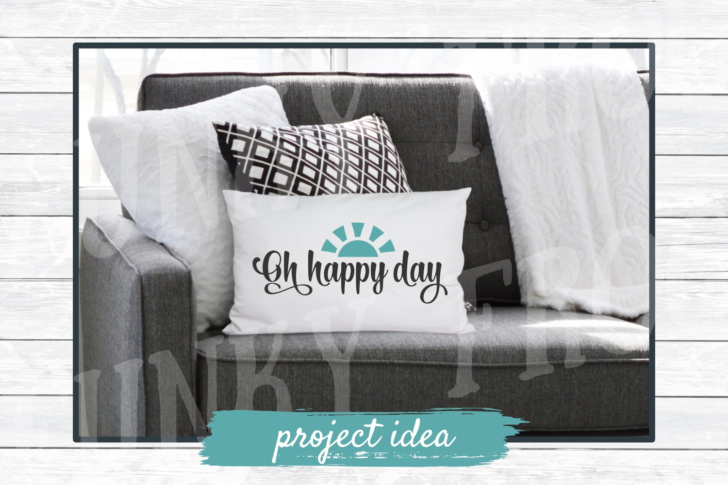 Oh Happy Day - Inspirational SVG Cut File for Crafters example image 2