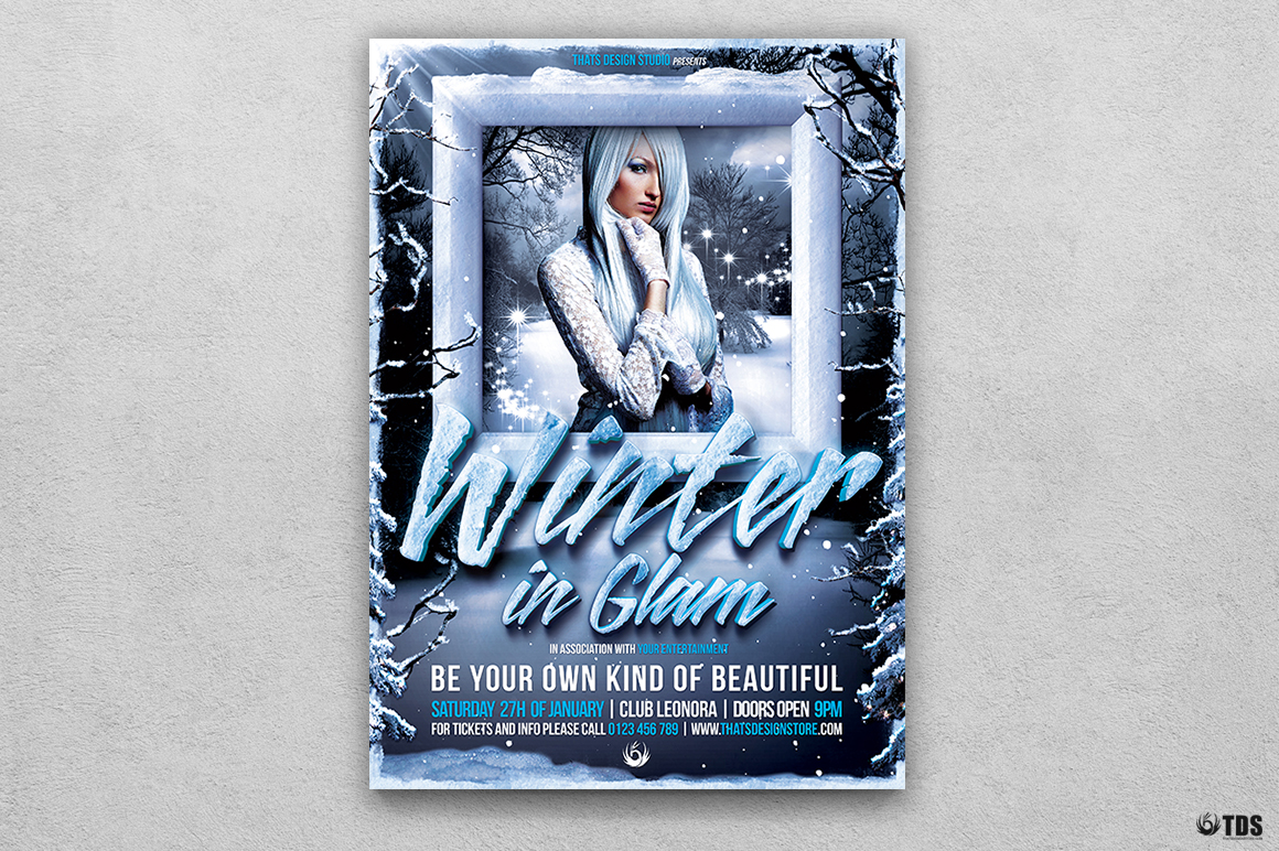 Winter Glam Flyer Template V1 example image 1