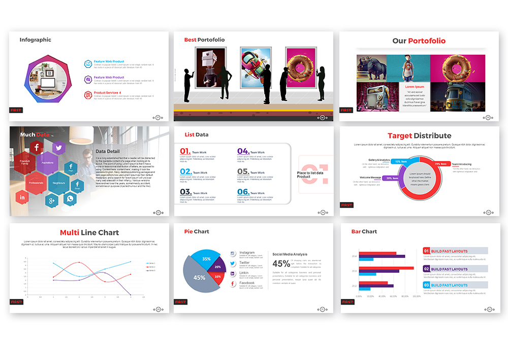First Powerpoint Template example image 6