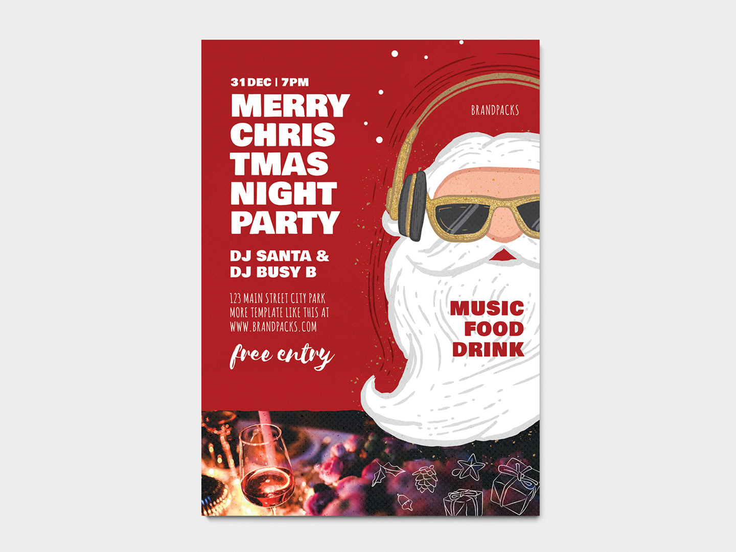 Christmas Party Poster.Christmas Party Flyer Poster