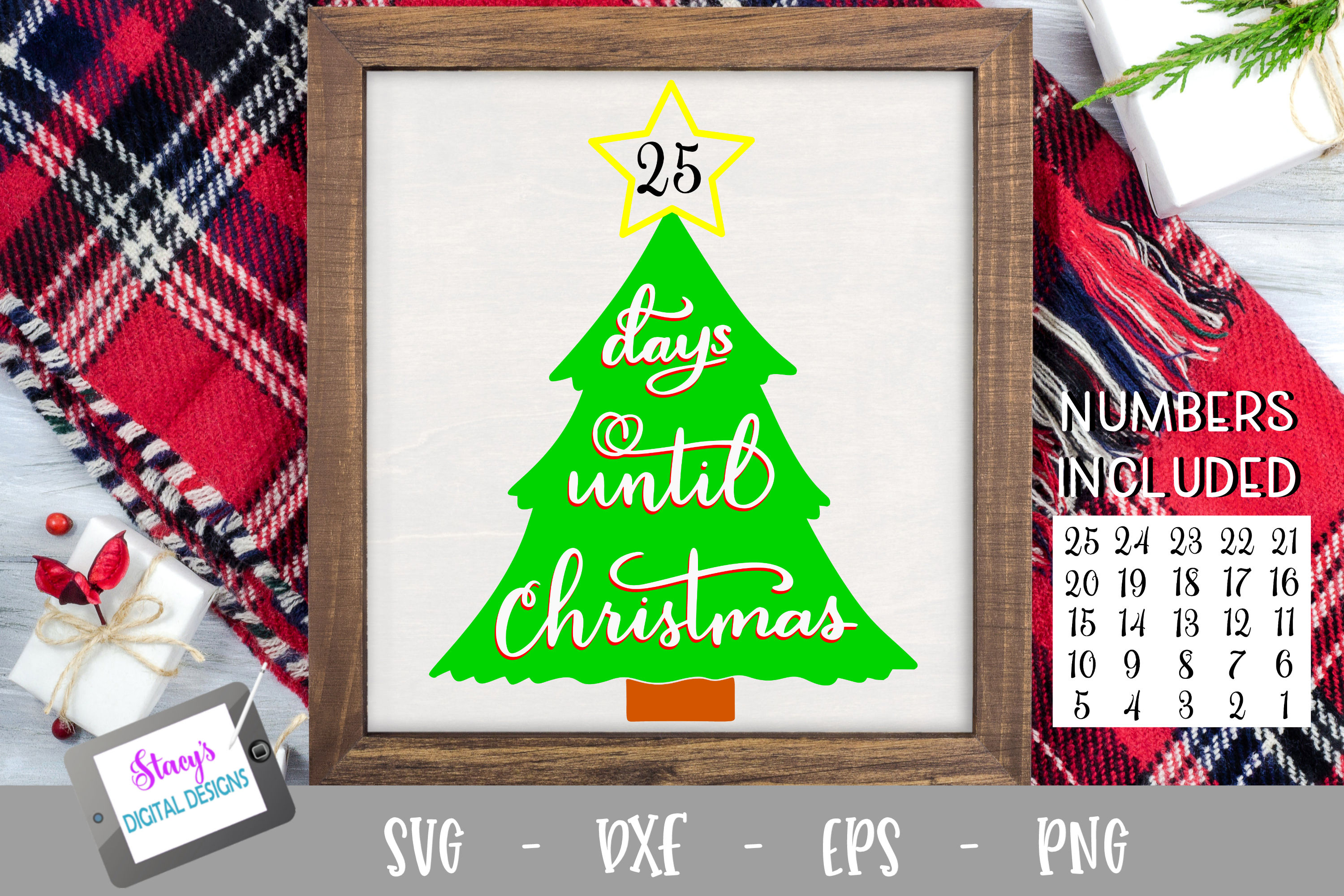 Days until Christmas SVG - Christmas Countdown - Advent example image 1