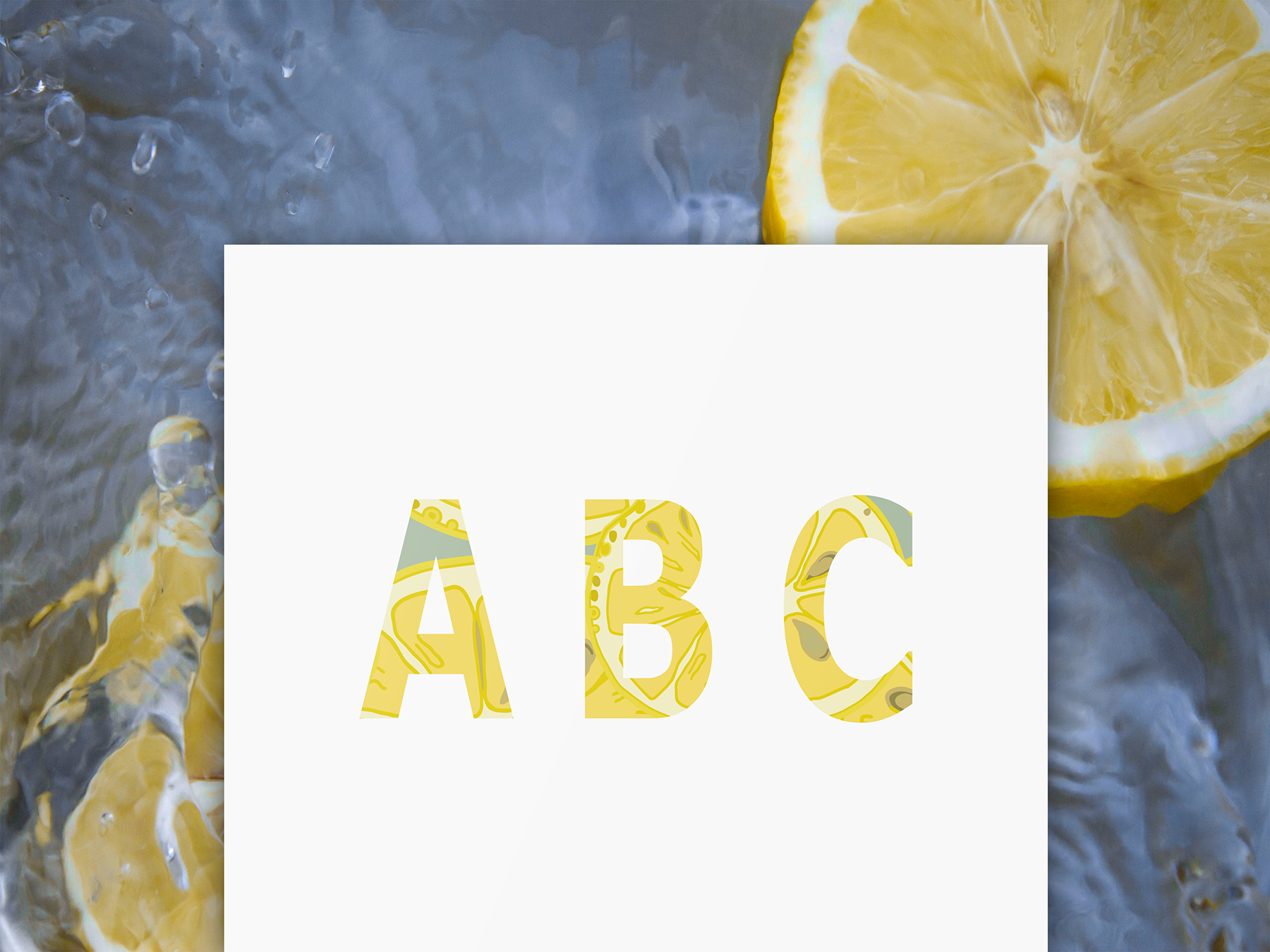 Lemons collection (158 vector and raster files) : 4 Patterns, 4 clipart Alphabets (144 png, 4 eps). example image 5
