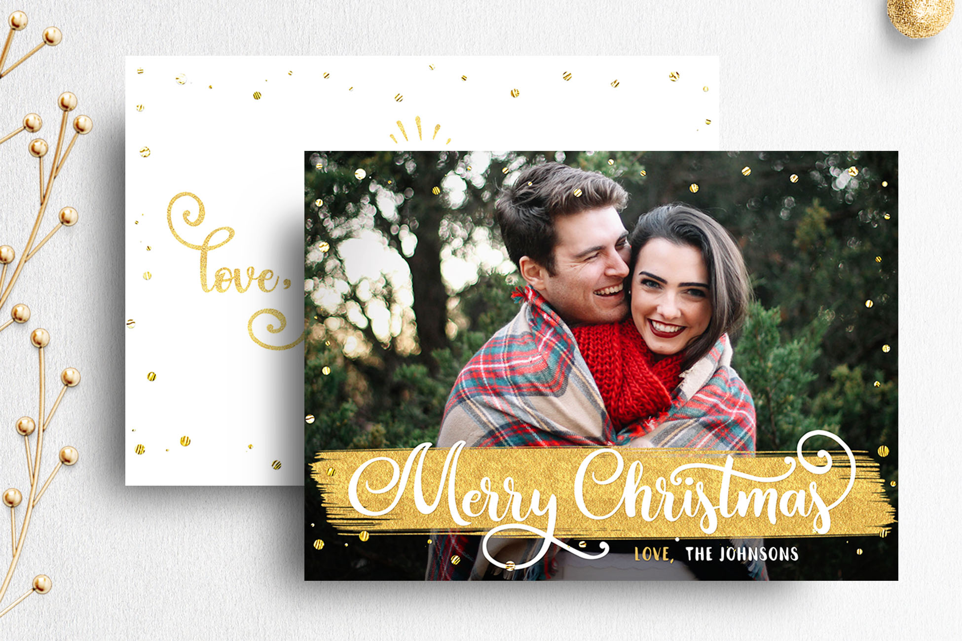 Christmas Card Template For Photographer 007 Example Image 1