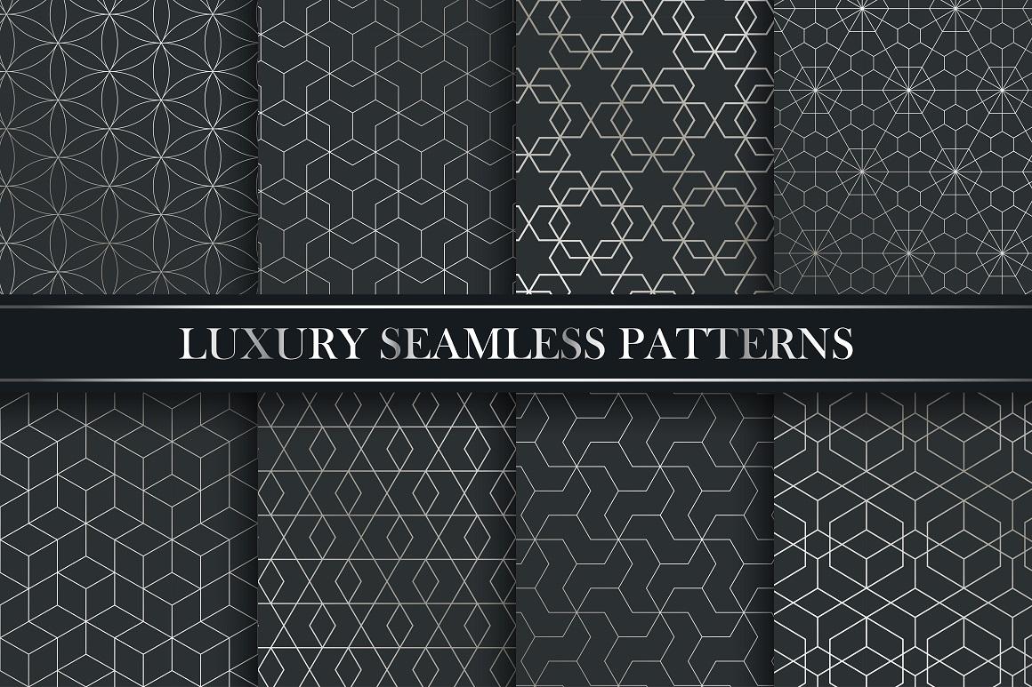 Lyxury seamless ornate patterns. example image 1
