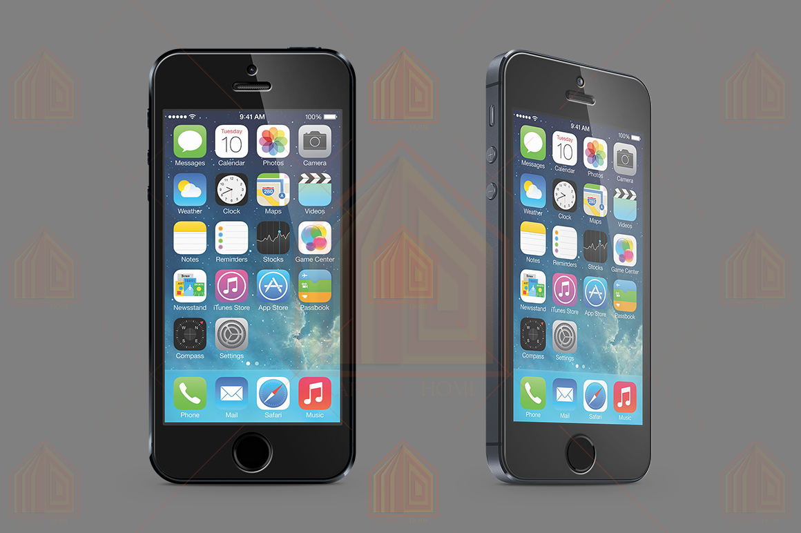 iPhone 5s Tempered Glass  Template  example image 2