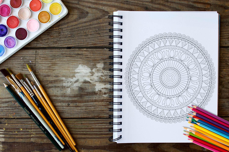 Mandala Designs Coloring Book - 30 Unique Mandalas example image 2
