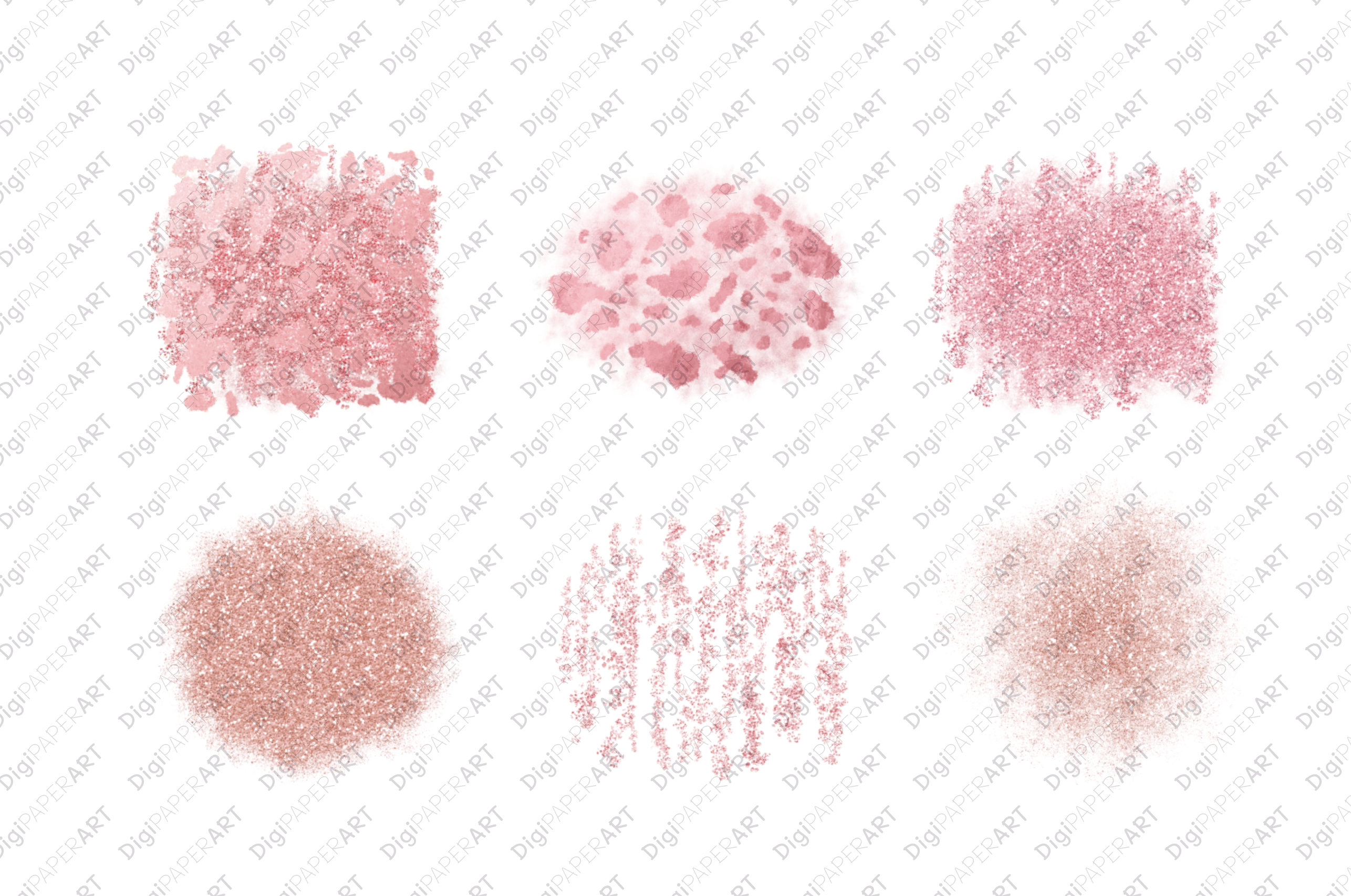Pink Coral Glitter Elements example image 2