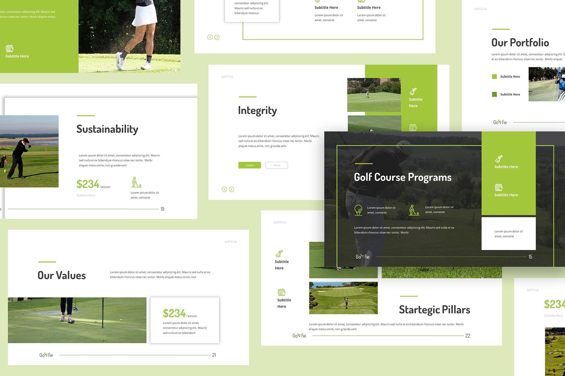 Golfie Golf Keynote Presentation example image 3