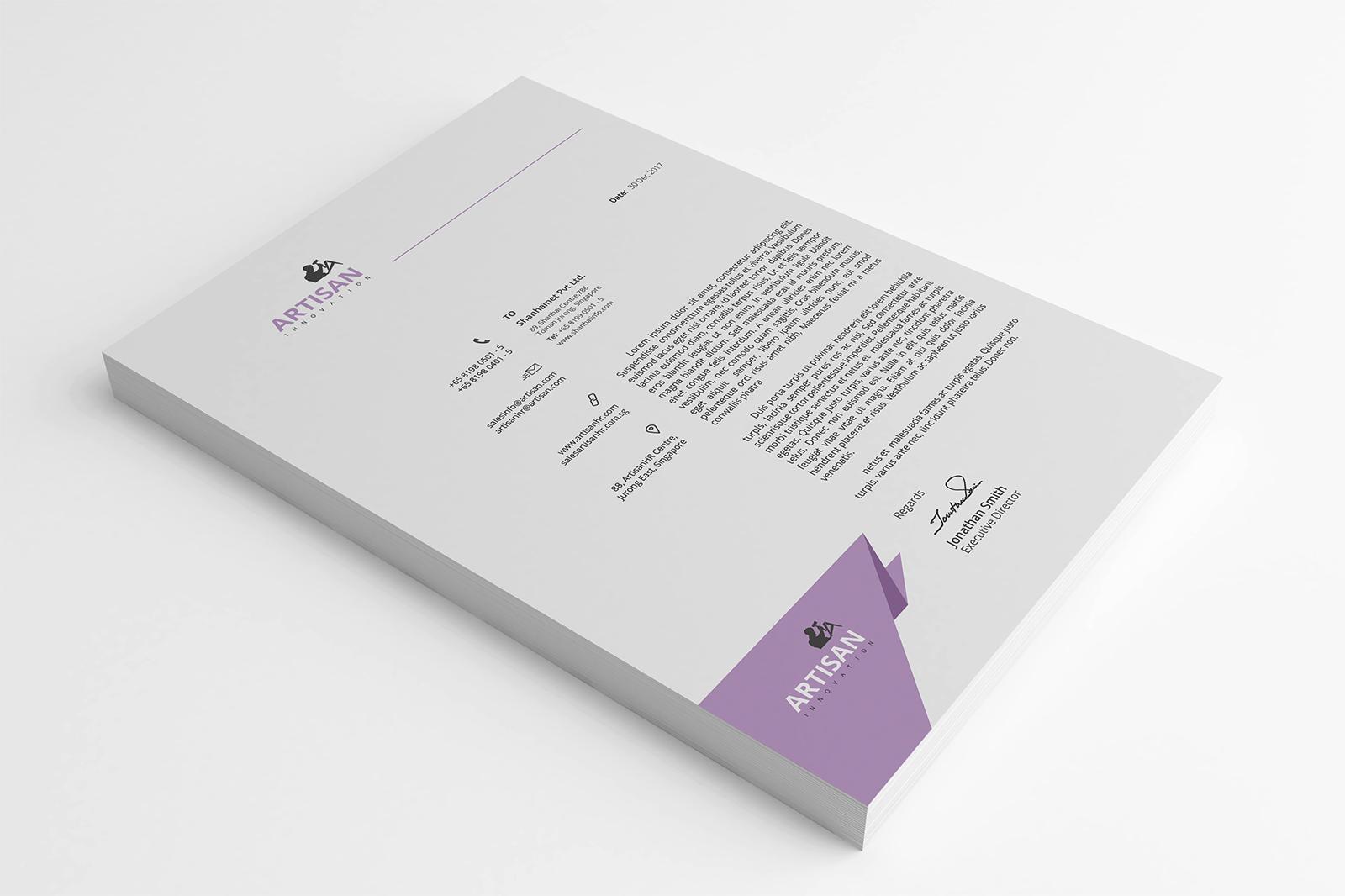 Modern Letterhead example image 3