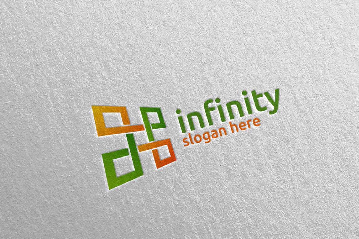 Infinity loop logo Design 25 example image 3