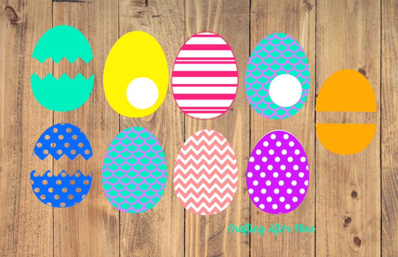 Easter Egg Svg, Easter Egg Bundle, Happy Easter, Easter Svg example image 1