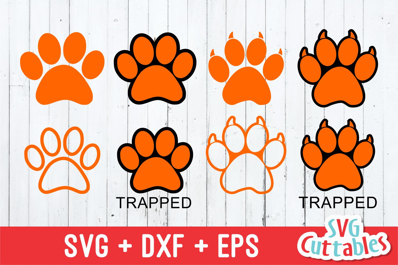Download Paw prints   SVG Cut File