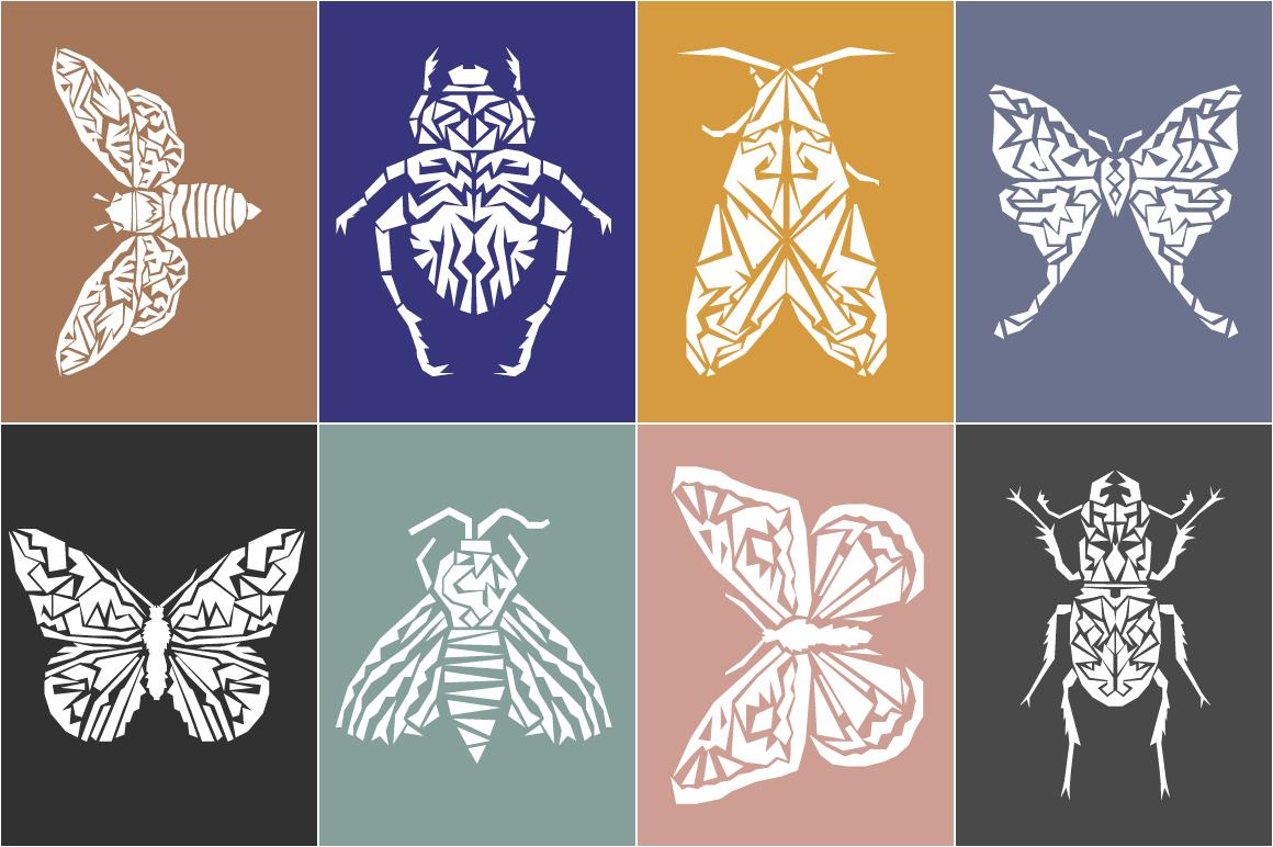 Butterflies and Beetles SVG Bundle example image 10