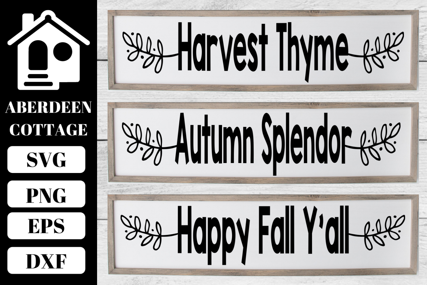 Fall Sign SVG Collection 1 example image 1