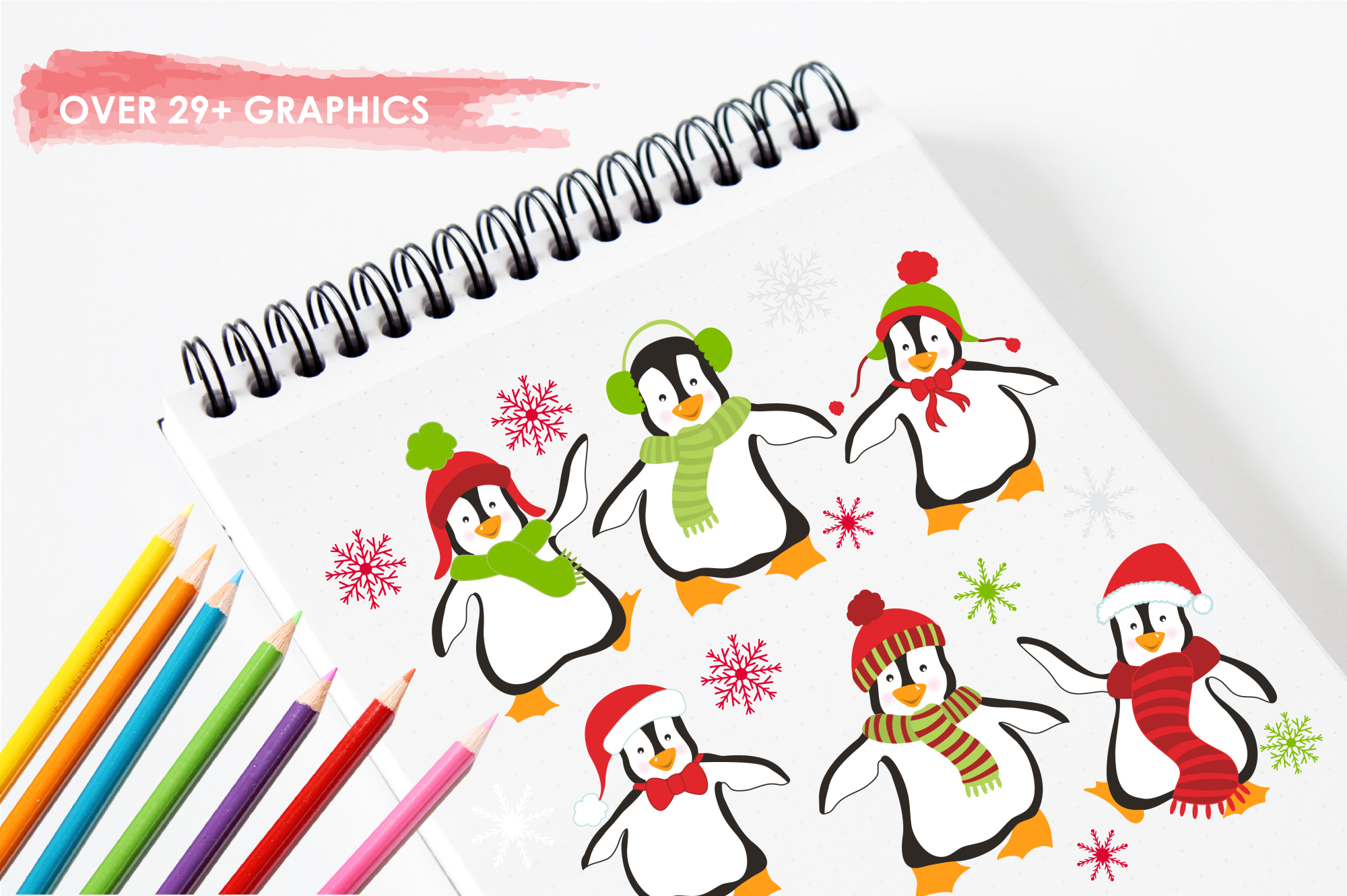 Christmas Penguins graphics and illustrations example image 3