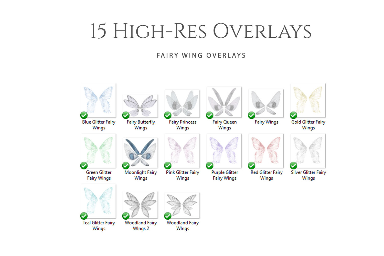 Fantasy Fairy Wing Photo Overlays example image 2