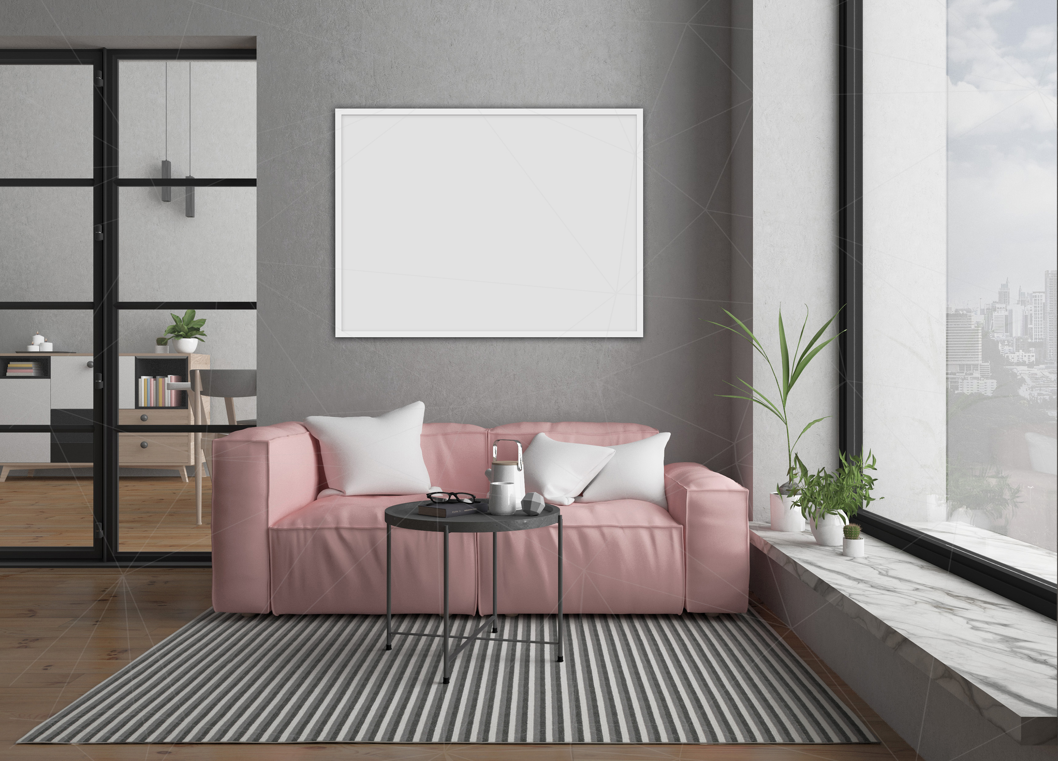 Interior mockup bundle - blank wall mock up example image 6