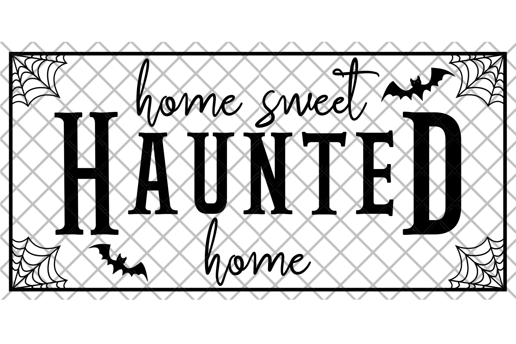 Home Sweet Haunted Home Halloween SVG Digital Cut File Sign example image 2