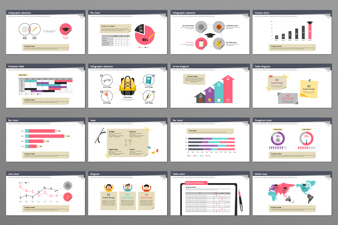 School Supplies PPT example image 4