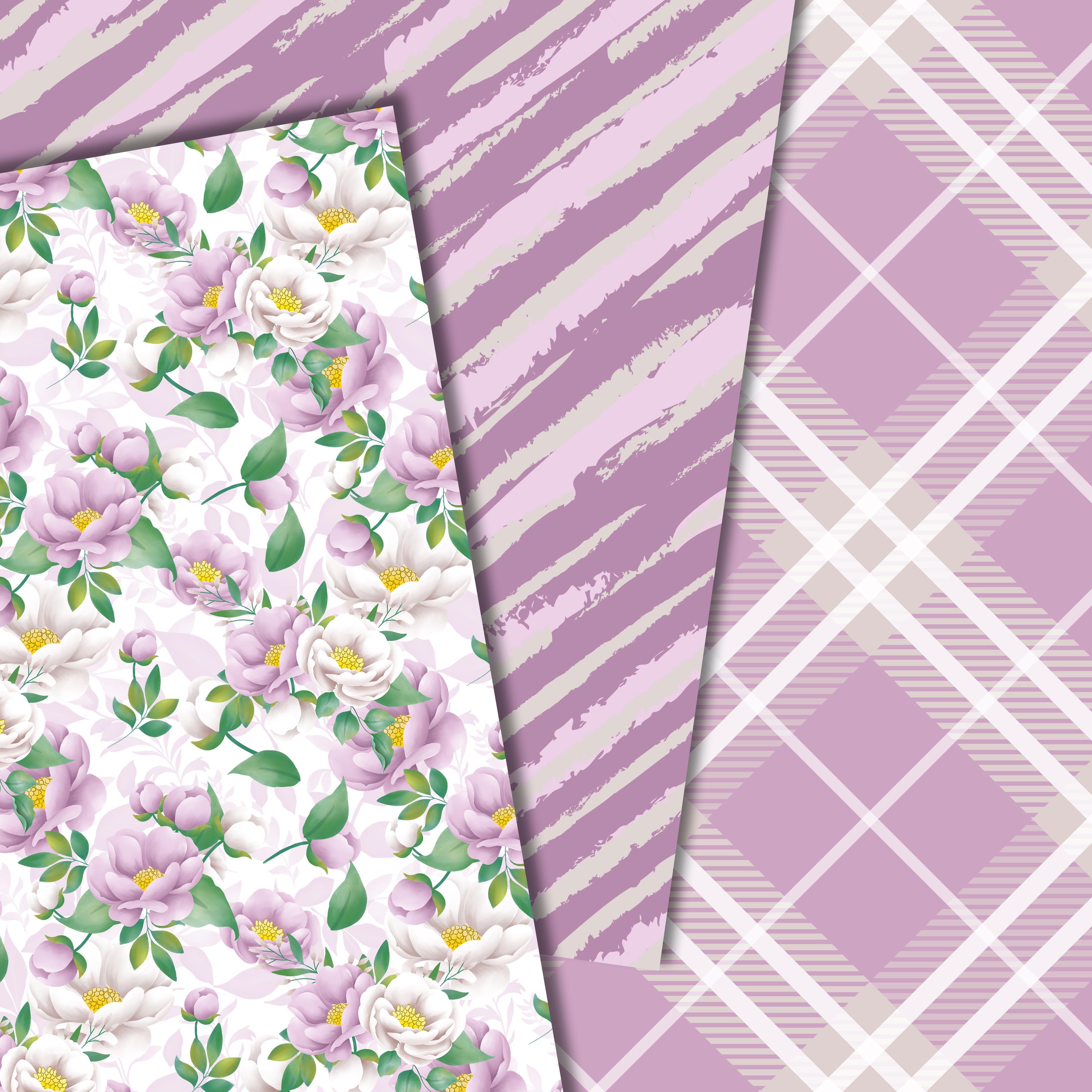 Purple flowers paper example image 5