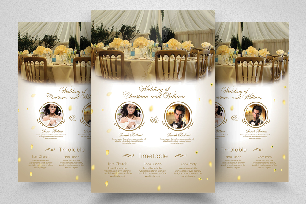 6 Wedding Invitaion Flyer Template example image 4