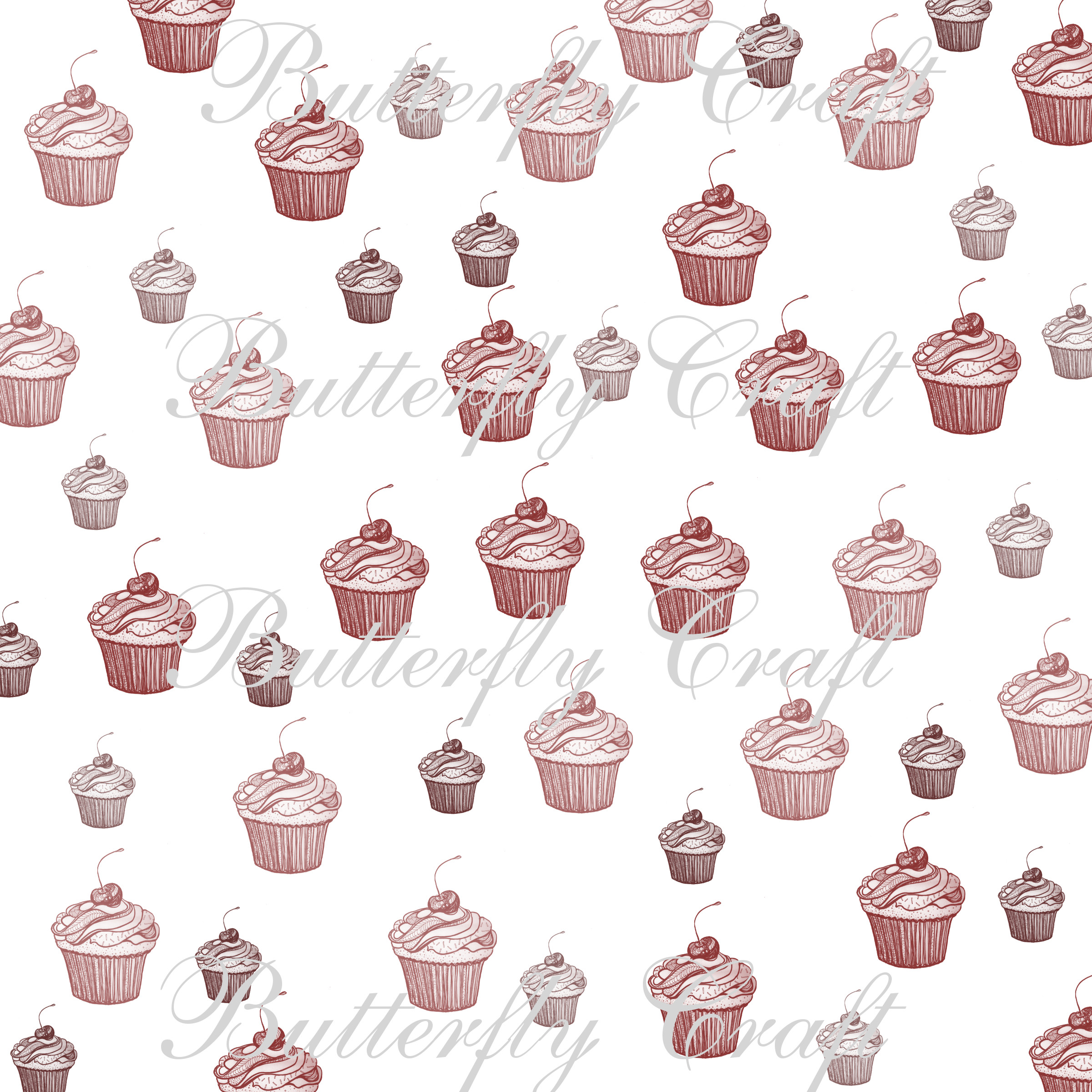Cupcake Digital Papers Tea Time Ins Paper Birthday Cake