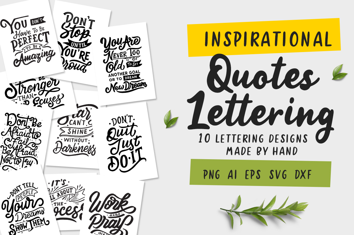 Inspirational Quotes Lettering example image 1