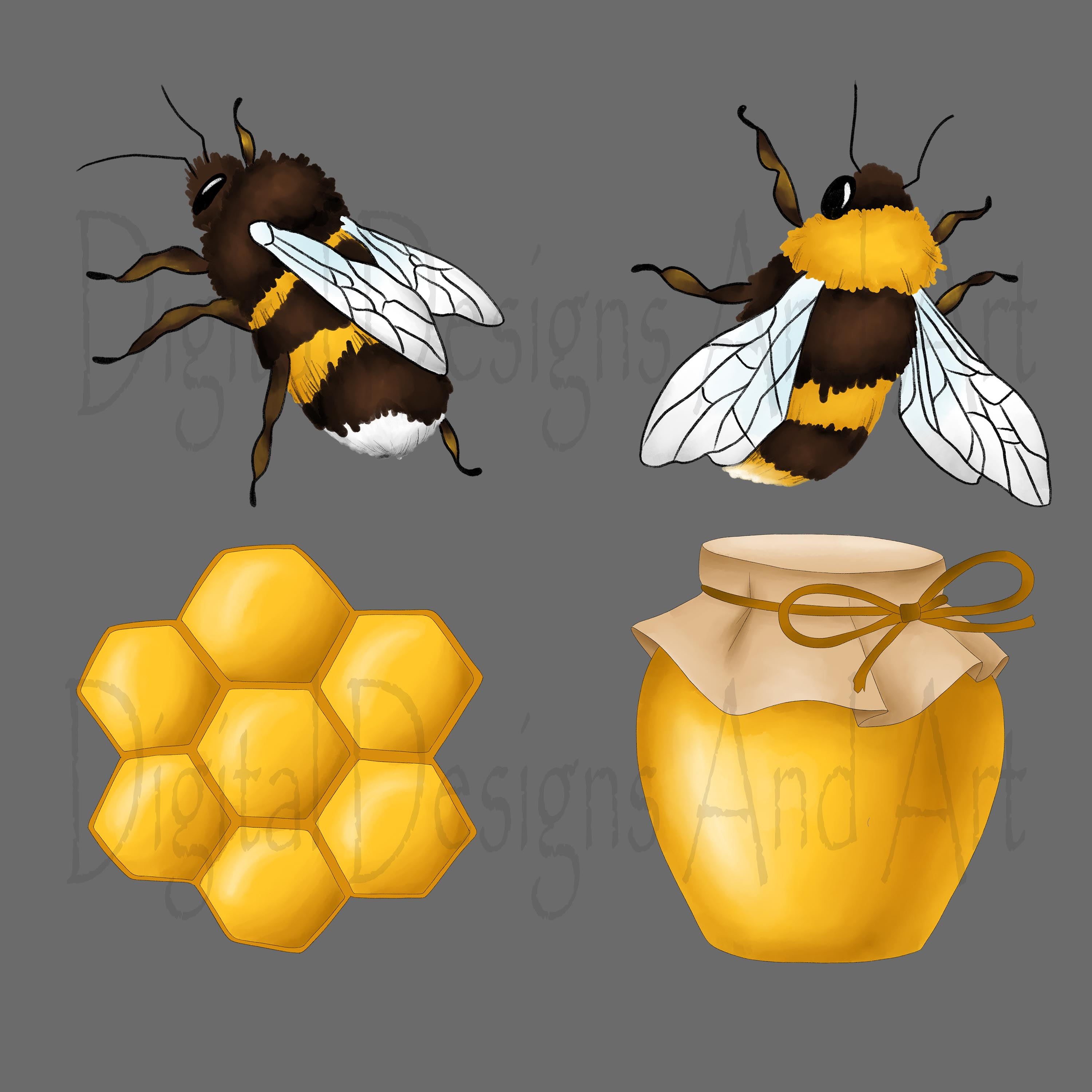 Honey bee clipart example image 7